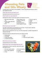 Choosing Fats and Oils Wisely Fact Sheets