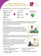 Heart Healthy Living Fact Sheet