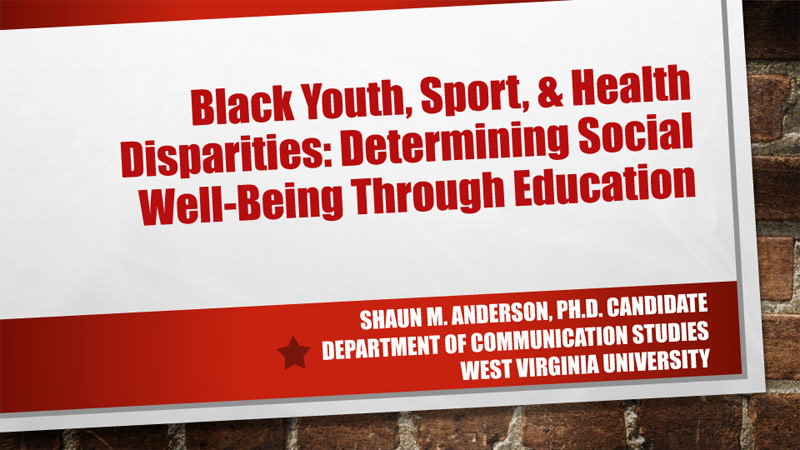 Black Youth, Sport, & Health Disparities