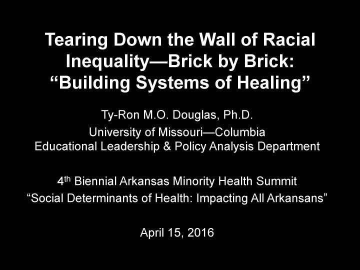 Tearing Down the Wall of Racial Inequality